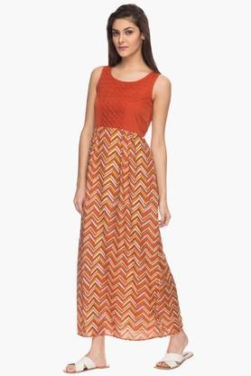 Womens Printed Causal Maxi Dress