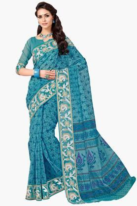 ASHIKA Womens Designer Cotton Printed Saree - 202338225