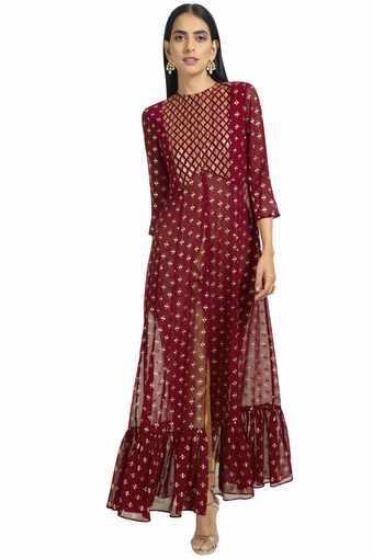 INDYA -  MaroonINDYA - Shop for Rs.4000 And Get Rs.750 Off - Main
