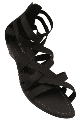 RAW HIDE Womens Casual Zipper Closure Wedge Sandal