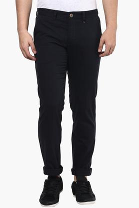 LOUIS PHILIPPE SPORTS Mens 4 Pocket Solid Chinos - 201253807