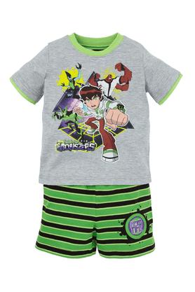 Boys Cotton Print T-Shirt and Short Set
