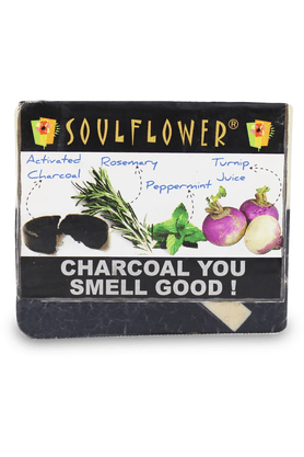SOULFLOWER Charcoal You Smell Good Soap