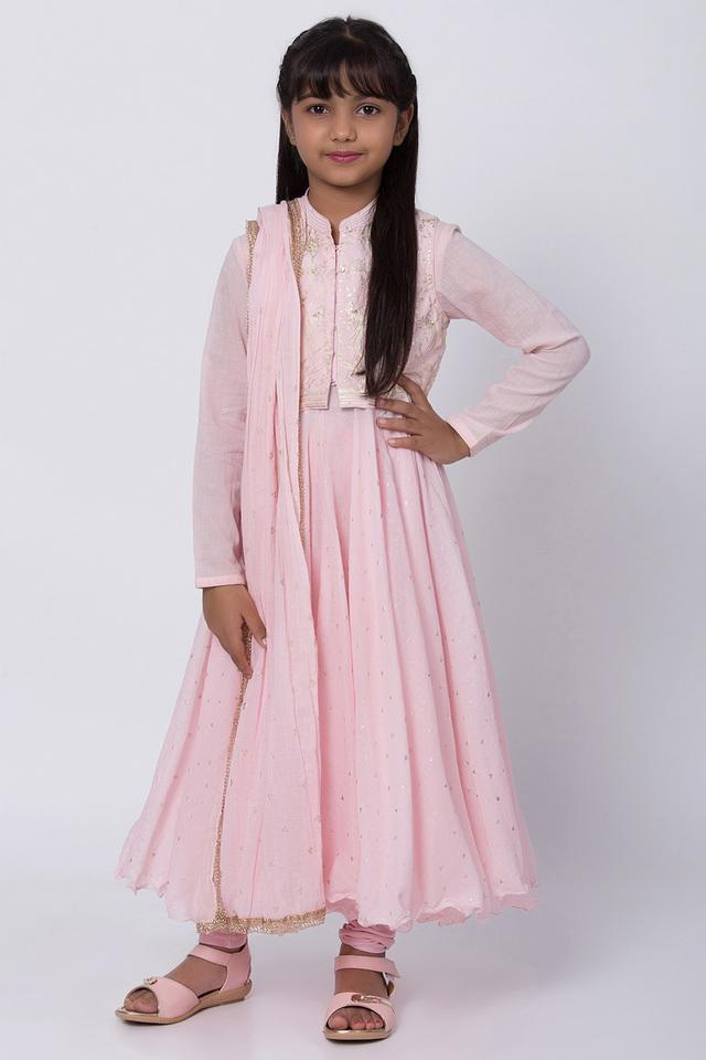 BIBA GIRLS - Salmon Salwar Kurta Set - Main