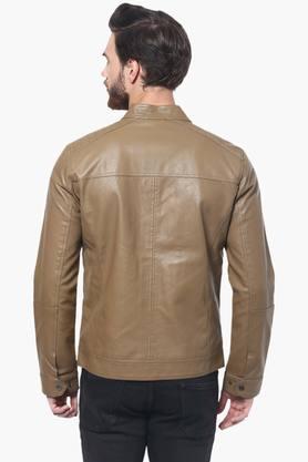 Mens Full Sleeves Solid Jacket