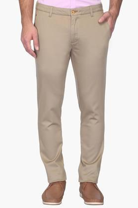 Mens Super Slim Fit 4 Pocket Solid Chinos - 202123873