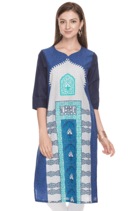 AURELIA Women Slim Fit Printed Kurta - 200758848