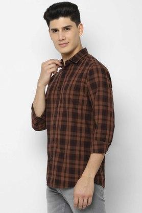 ALLEN SOLLY - Chocolate Casual Shirts - 2