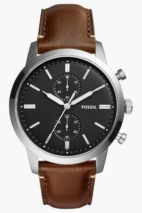 Mens Chronograph Leather Watch - FS5280I