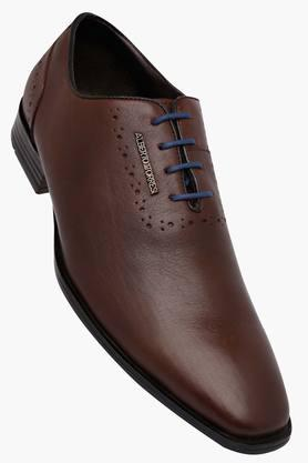 ALBERTO TORRESI Mens Leather Lace Up Shoes