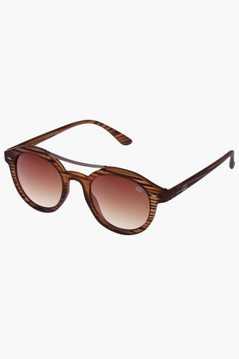 797adc63db Buy GIO COLLECTION Unisex Oval Polycarbonate Sunglasses VS188C2BR ...