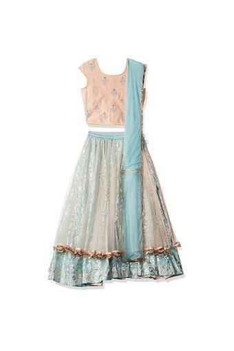 BIBA GIRLS -  PeachIndianwear - Main