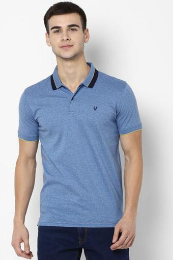 ALLEN SOLLY -  Mid Blue T-shirts - Main