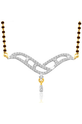SPARKLES Gold Mangalsutra With Diamond Pendant Set - N9406