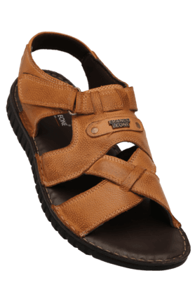 FRANCO LEONE Mens Daily Wear Velcro Closure Sandal