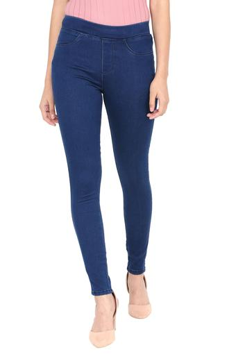 Womens 4 Pocket Rinse Wash Jeggings