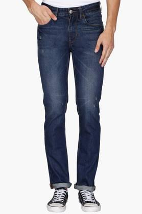 U.S. POLO ASSN. DENIM Mens 5 Pocket Slim Fit Rinse Wash Jeans (Delta Fit)