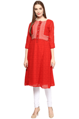 FUSION BEATS Womens Printed Kurta