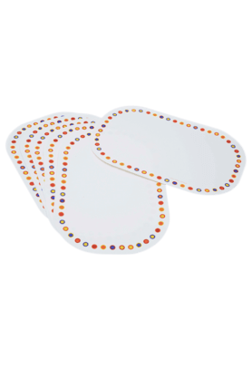 CORELLE Hot Dots - Placemats (Set Of 6)