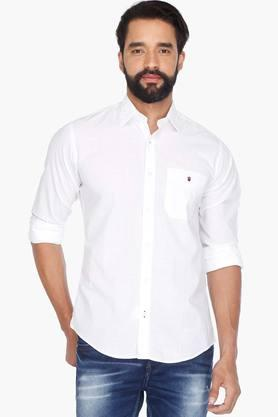 Louis Philippe Sports Formal Shirts (Men's) - Mens Full Sleeves Casual Solid Shirt