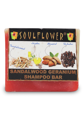 SOULFLOWER Sandalwood Geranium Shampoo Bar Soap