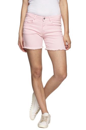 Womens 5 Pocket Solid Shorts