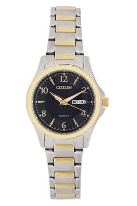 Womens Black Dial Metallic Analogue Watch - EQ0595-55L