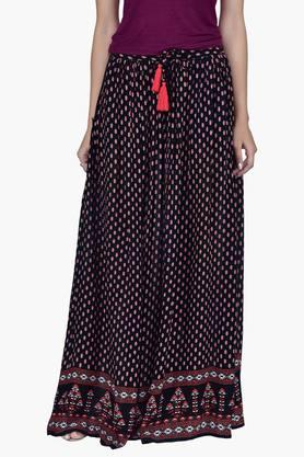 JUNIPER Women Long Gathered Skirt With Tassels