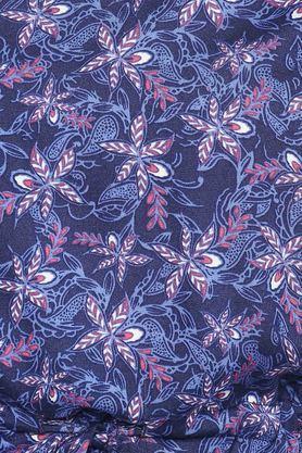 Womens V Neck Printed Blouson Dress