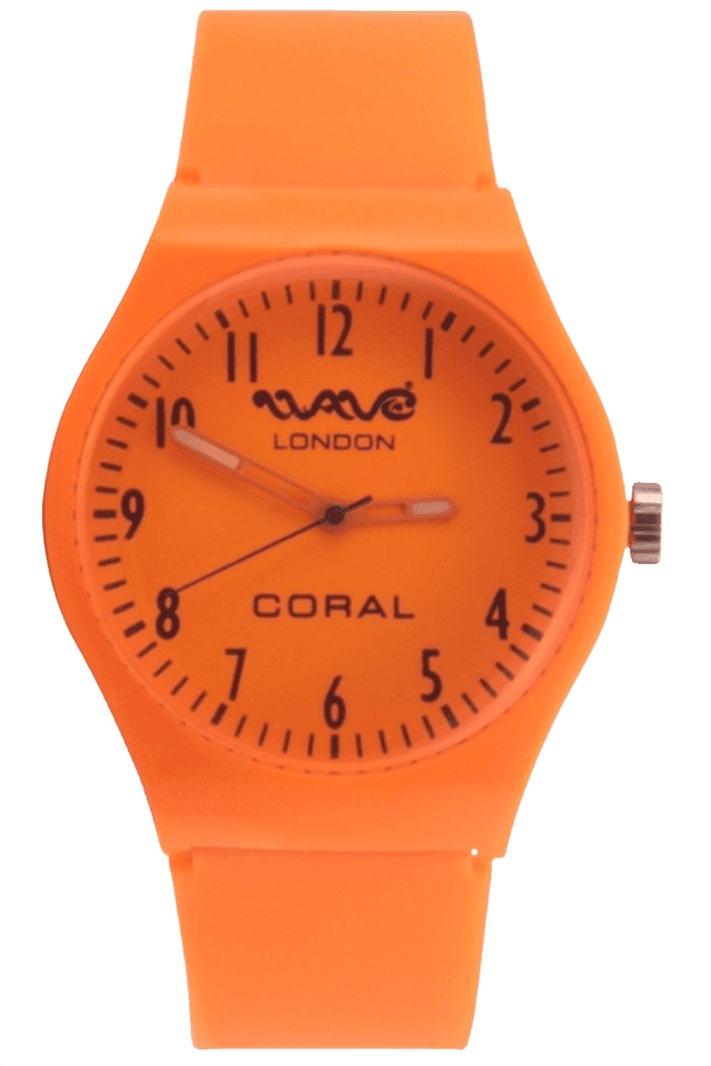 Coral Neon Orange Unisex Watch