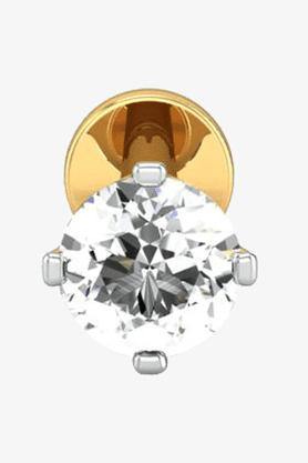VELVETCASEWomens 18 Karat Yellow Gold Nose Ring (Free Diamond Pendant) - 201064985