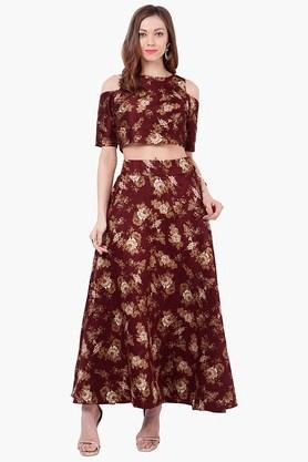Womens Printed Maxi Skirt