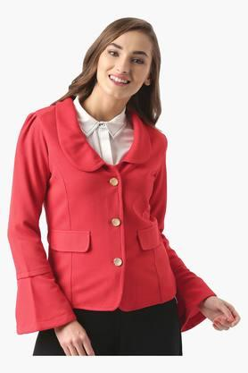 MARIE CLAIRE Womens Casual Solid Jacket  ...