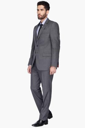 Mens Notched Lapel Check Suit