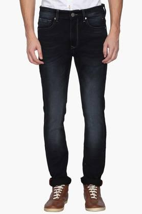 LOUIS PHILIPPE JEANSMens Regular Fit 5 Pocket Mild Wash Jeans (Albert Fit)