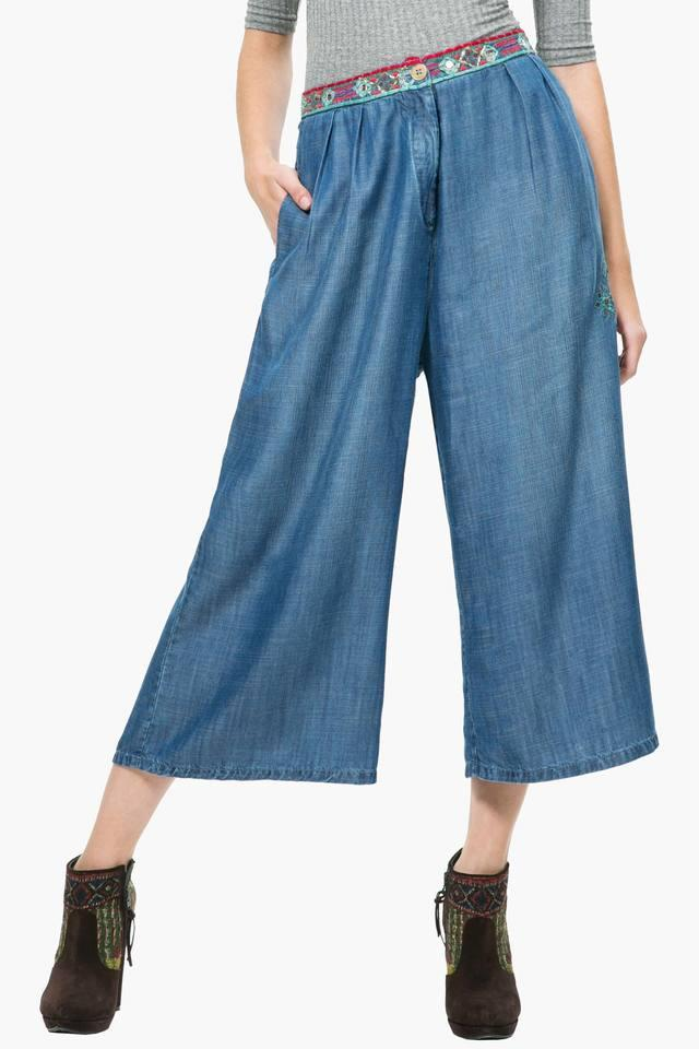 Womens Assorted Embroidered Culottes
