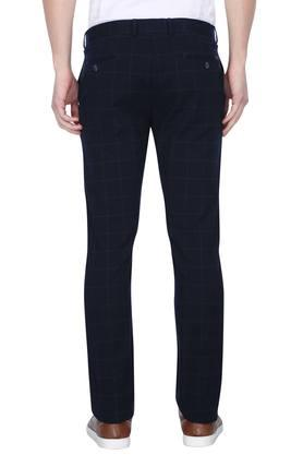 Mens 5 Pocket Check Trousers