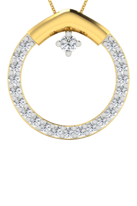 SPARKLESHis & Her Collection 18 Kt Pendant In Gold & Real Diamond HHP9243