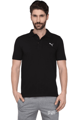 PUMAMens Short Sleeve Solid Polo T-Shirt (Use Code FB15 To Get 15% Off On Purchase Of Rs.1200)
