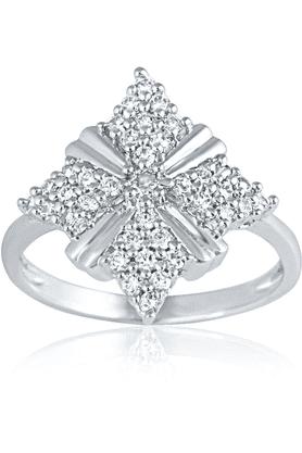 MAHIMahi Rhodium Plated Cheerful Elegance Ring With CZ Stones For Women FR1100432R