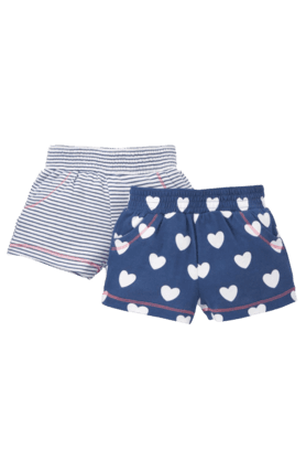 MOTHERCARE Girls Jersey Shorts -Pack Of 2