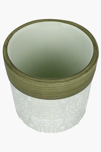 Round Textured Terracotta Mini Planter