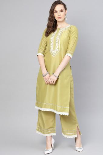 LIBAS -  Olive Salwar & Churidar Suits - Main