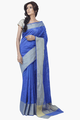 JASHN Womens Embroidered Saree With Blouse Piece - 201313074