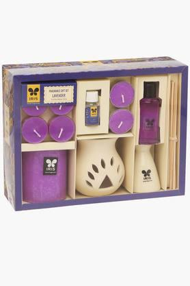 IRIS Aromatic Candles With Reed Diffuser Fragrance Set - 201633514