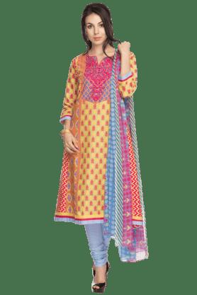 BIBAWomens Printed Salwar, Kurta And Dupatta Set - 200892237