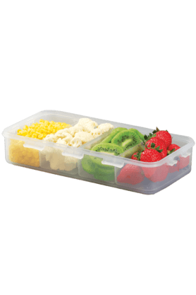 LOCK & LOCK Classics Rectangular Food Container With Divider - 1.6 Litres
