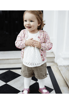 MOTHERCAREGirls Cotton Shorts With Tights