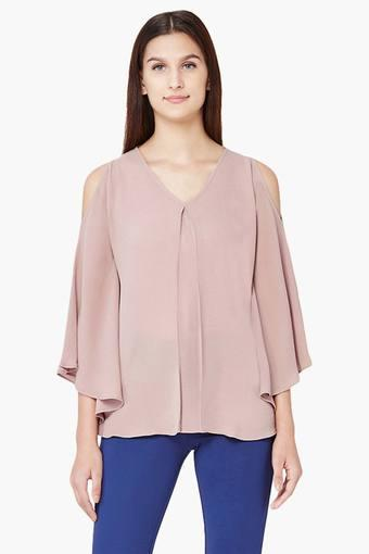 60e5dfc4b56477 Buy AND Women's Cold-Shoulder Top | Shoppers Stop