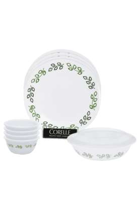 CORELLE India Impressions Neo Leaf 10 Pcs Dinner Set